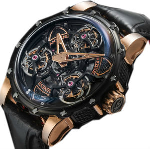 TTR3 Power  ADLC Titanium Pink gold black diamonds Antoine Preziuso Master Exclusive Creations