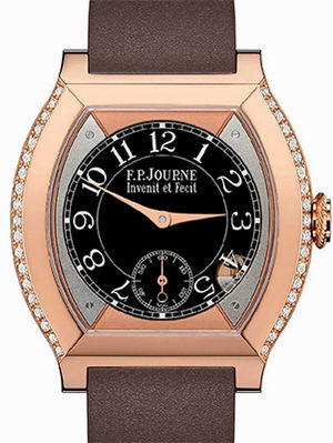 Red Gold 5N set with diamonds chocolate F.P.Journe Elegante Collection