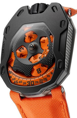 UR-105 TA Black Orange Urwerk UR-105
