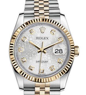 Rolex Datejust 36 116233 silver jubilee diamond dial Jubilee
