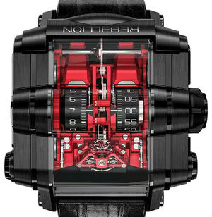 Т-1000 T1K Titanium DLC Red Black Rebellion T-1000