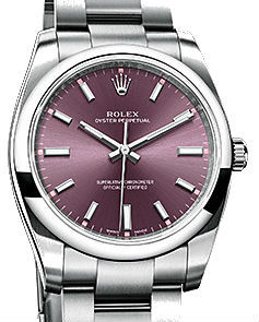 114200  Red grape dial Rolex Oyster Perpetual