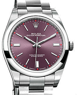 Rolex Oyster Perpetual 114300 Red grape dial