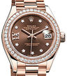 Rolex Lady-Datejust 28 279135RBR Chocolate set with diamonds dial