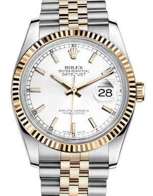 116233 white index dial Jubilee Rolex Datejust 36