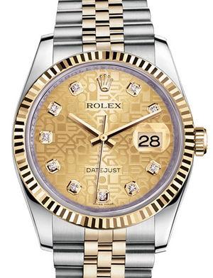 116233 champagne jubilee diamond dial Jubilee Rolex Datejust 36