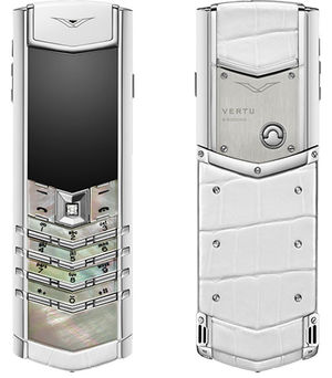 Signature White Mother of Pearl Vertu Signature