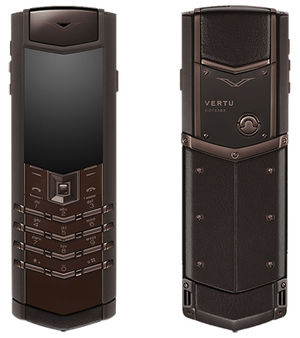 Signature Pure Chocolate Stainless Steel Vertu Signature