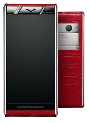 Aster Diamonds Red Alligator Vertu Aster