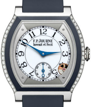 Titanium set with diamonds midnight blue F.P.Journe Elegante Collection