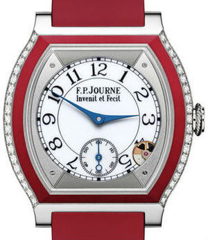 Titanium set with diamonds red F.P.Journe Elegante Collection