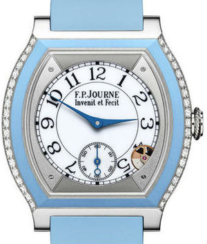 Titanium set with diamonds light blue F.P.Journe Elegante Collection