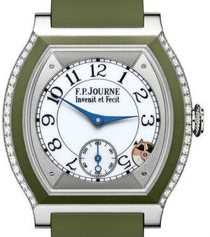 Titanium set with diamonds green khaki F.P.Journe Elegante Collection