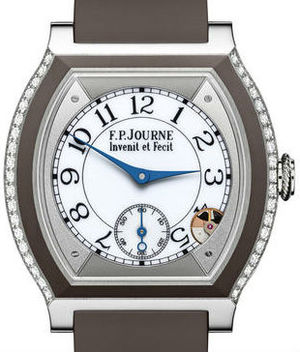 Titanium set with diamonds shokolate F.P.Journe Elegante Collection