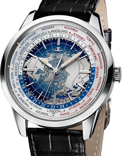 8108420 Jaeger LeCoultre часы ® Universal Time Stainless Steel 2015