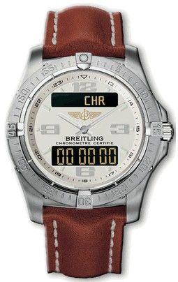 E79362.WHITE.CALF.BD Breitling Professional