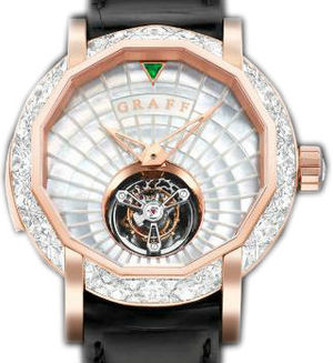 Diamond&Rose Gold With White Mother of Pearl Dial Graff Technical MasterGraff