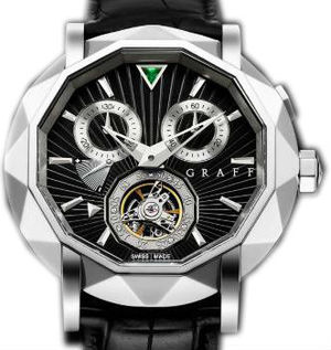 White Gold With Black Dial Graff Technical MasterGraff