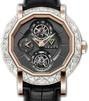 Diamond&Rose Gold With black dial  Graff Technical MasterGraff