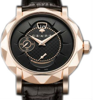 Rose Gold With Black Dial Graff Star Collection