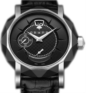 Graff Star Collection DLC&White Gold With Black Dial