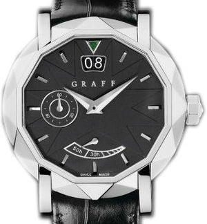 White Gold With Black Dial Graff Star Collection