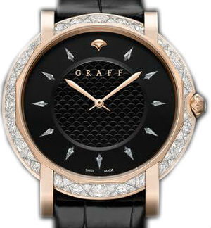 Graff Star Collection Diamonds&Rose Gold With Black Dial