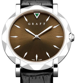 Graff Star Collection White Gold With Chocolate Dial