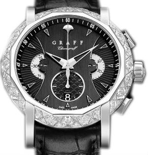 Diamond&White Gold With Black Dial Graff Chrono Collection