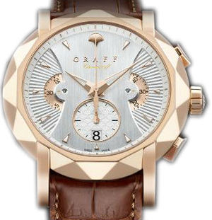Rose Gold With White Dial Graff Chrono Collection