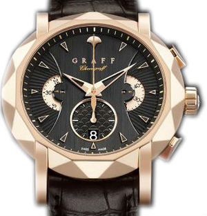 Rose Gold With Black Dial Graff Chrono Collection