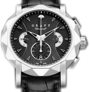 White Gold With Black Dial Graff Chrono Collection
