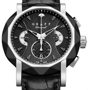 DLC&White Gold With Black Dial  Graff Chrono Collection