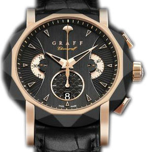 DLC&Rose Gold With Black Dial Graff Chrono Collection