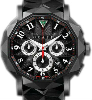 DLC With Black Dial Graff Chrono Collection