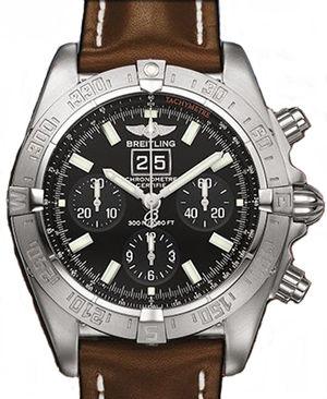A44359.BLACK.INDEX.CALF.BA Breitling Chronomat 41