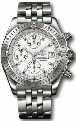 A13356.WHITE.INDEX.SSPILOT Breitling Chronomat 41