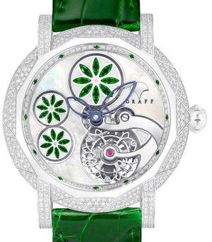 Floral Tourbillon Emerald Floral  Motif Graff Technical MasterGraff