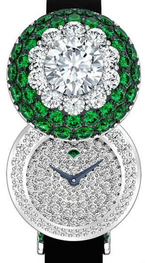 Halo secret watch Emerald&Diamond Graff Jewellery Watches