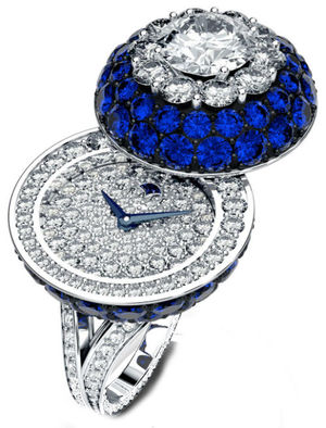 Halo Secret Ring Watch Sapphire&Diamond Graff Jewellery Watches