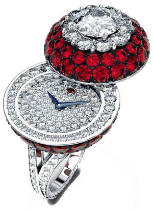 Halo Secret Ring Watch Ruby&Diamond Graff Jewellery Watches