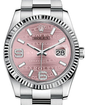 Rolex Datejust 36 116234 Pink waves diamond Oyster Bracelet