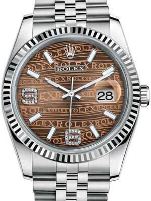 Rolex Datejust 36 116234 Bronze waves diamond Jubilee Bracelet