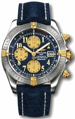 B13356.BLUE.ARABIC.CALF.BD Breitling Chronomat 41