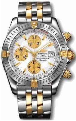 B13356.WHITE.INDEX.SGPILOT Breitling Chronomat 41