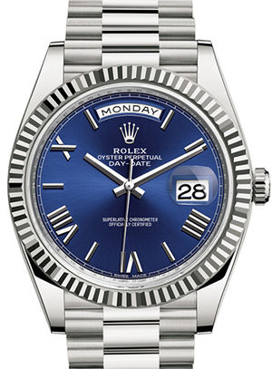 228239 blue dial Rolex Day-Date 40