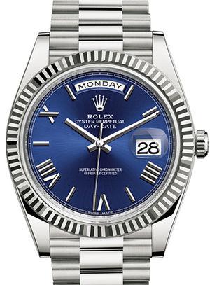 228239 blue dial Rolex Day-Date 40