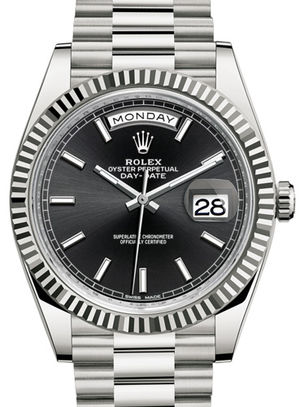 228239 black dial Rolex Day-Date 40
