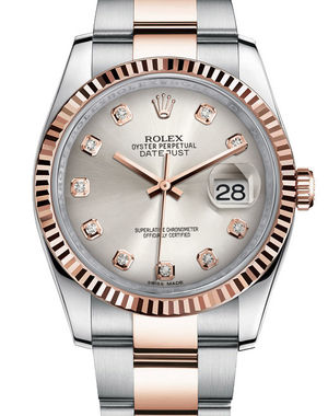 Rolex Datejust 36 116231 silver diamond dial Oyster