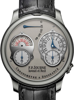 chronometre a resonance 24 hour pt grey leather F.P.Journe Souveraine